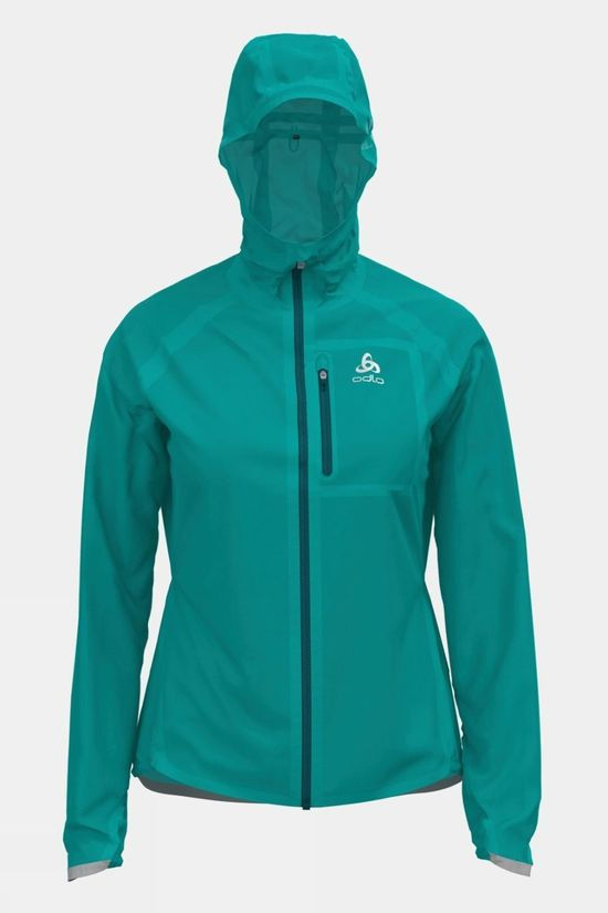 Odlo Womens Zeroweight Dual Dry Waterproof Running Jacket Jaded
