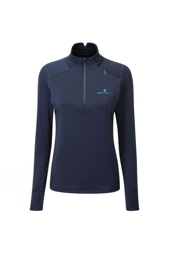 Ronhill Women's Tech Matrix 1/2 Zip Tee Deep Navy/Spa Green