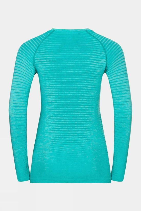 Odlo Womens Essential Seamless Long-Sleeve T-Shirt Jaded Melange