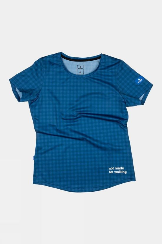 Saysky Women's Combat Tee Blue Checkerboard