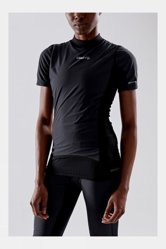 Craft Women's Active Extreme X Wind Short Sleeve Baselayer Black/Granite