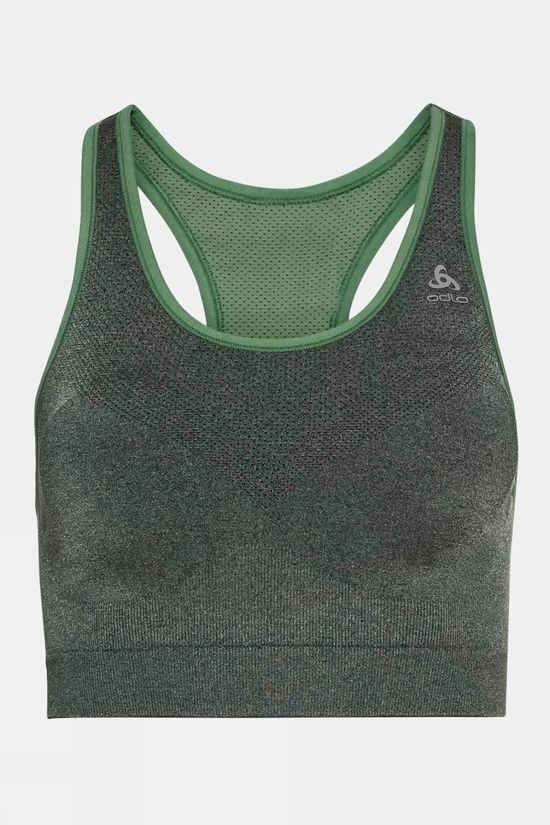 Odlo Seamless Medium Ceramicool Sports Matte Green Melange