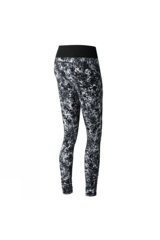 New Balance Womens Premium Performance Print Tights White Tie Dye Floral