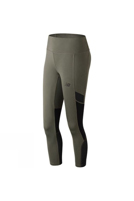 New Balance Womens Q Speed Crop Tights Khaki