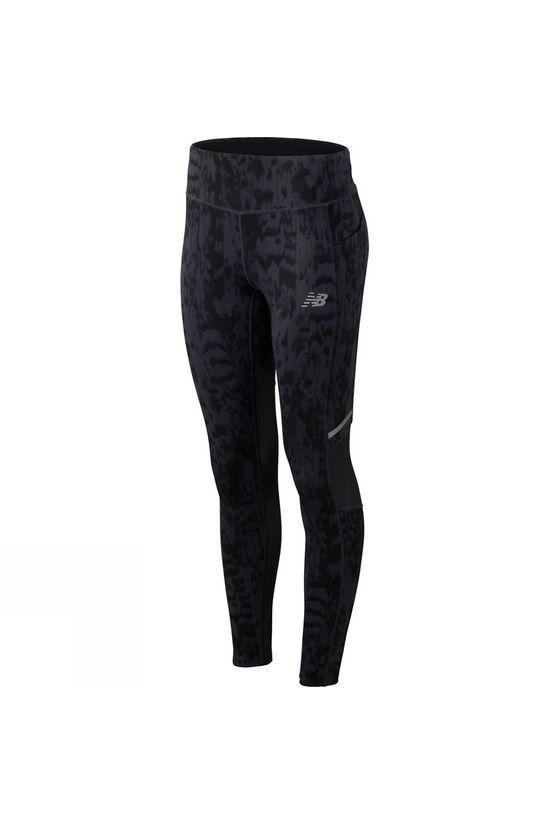 New Balance Womens Print Impact Tights  Iodine Voilet/Black