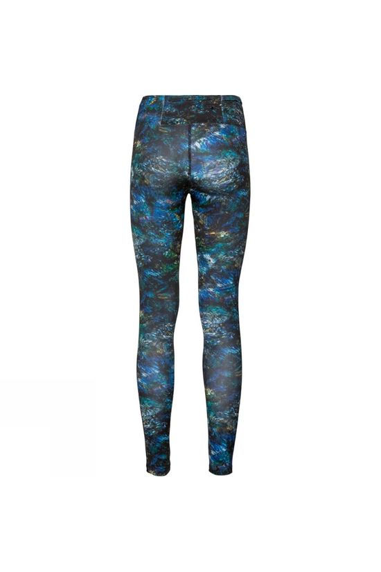 Odlo Womens Millennium Tights Black Multicolour AOP Fw19