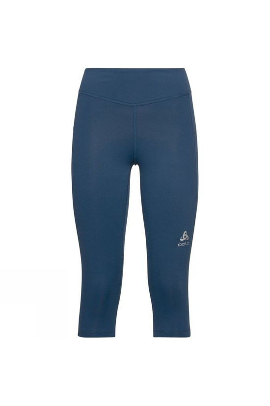 Odlo Womens Smooth Soft 3/4 Tights Blue Wing Teal