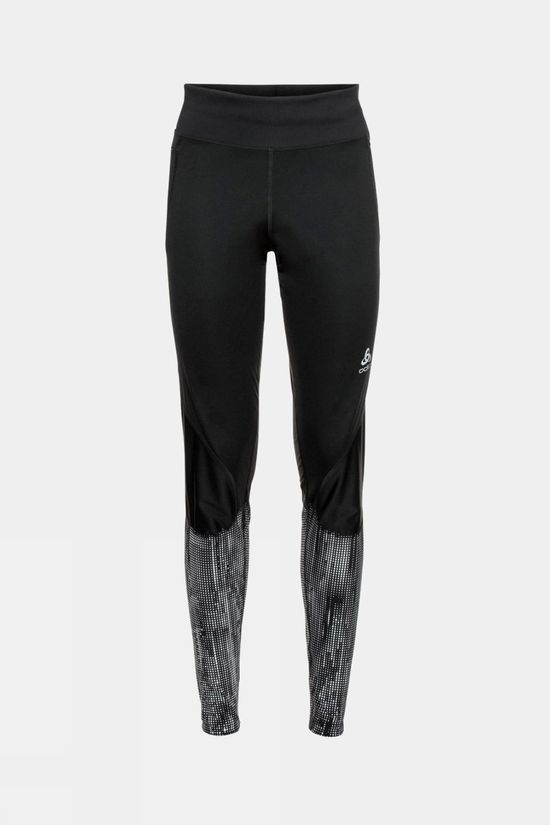 Odlo Women's Zeroweight Warm Reflective Tights Black Reflective