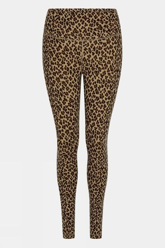 "Varley Womens Century Legging 2.0 25"" Coffe Cheetah"