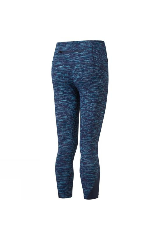 Ronhill Women's Life Spacedye Crop Tight Deep Navy/Spa Green