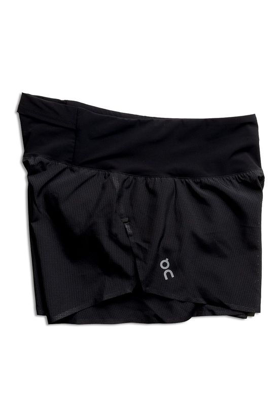On Womens Race Shorts Black