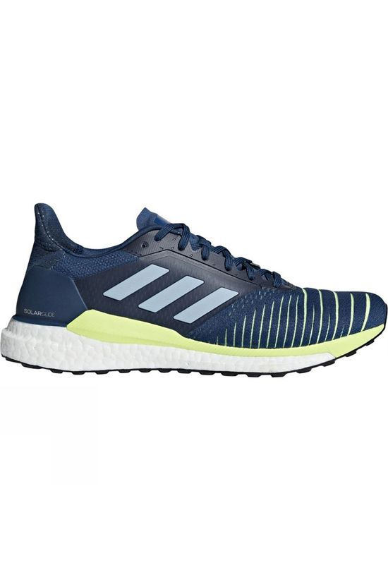 Adidas Mens Solar Glide legend marine/ASH GREY S18/hi-res yellow