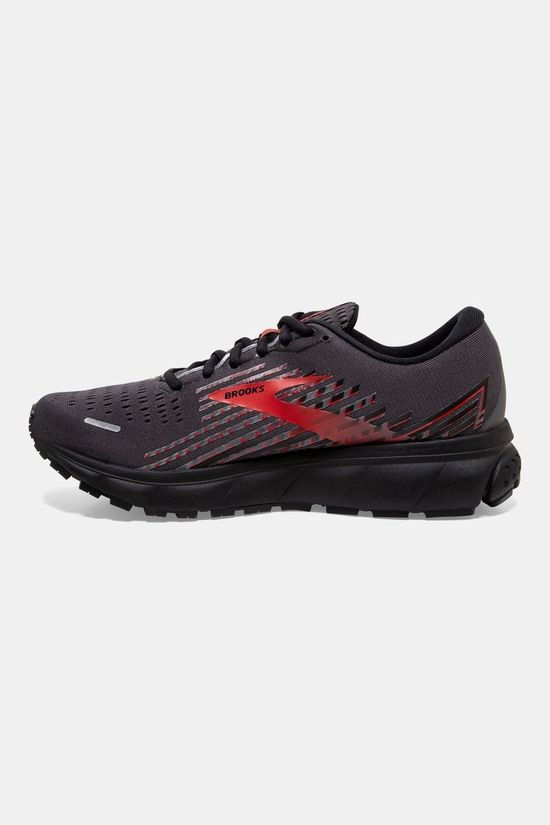 Brooks Mens Ghost 13 GTX Black/Ebony/Red