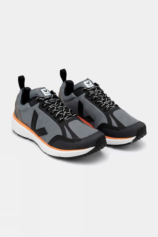 VEJA Men's Condor 2 CONCRETE BLACK NEON-ORANGE