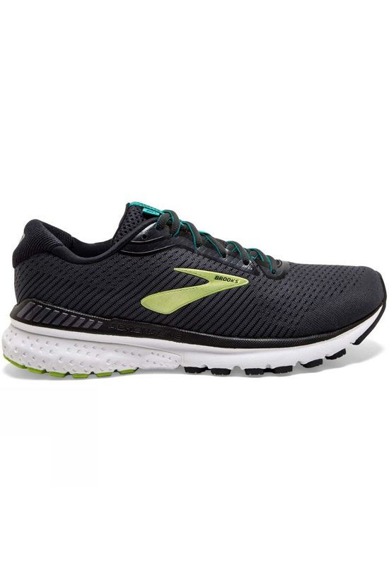 Brooks Men's Adrenaline GTS 20 Extra Wide Black/Lime/Blue Grass