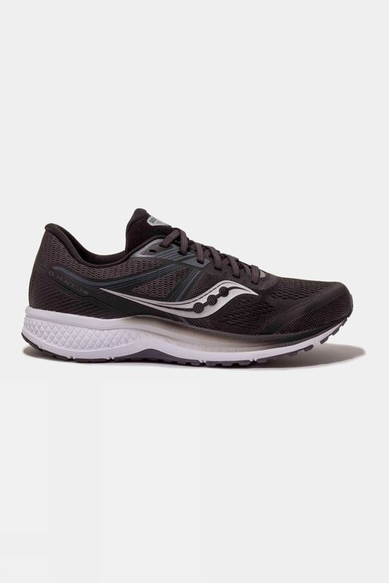 Saucony Mens Omni 19 BLACK/WHITE
