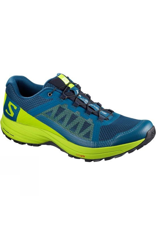 Salomon Mens Xa Elevate Shoe Poseidon/Lime Green/Black