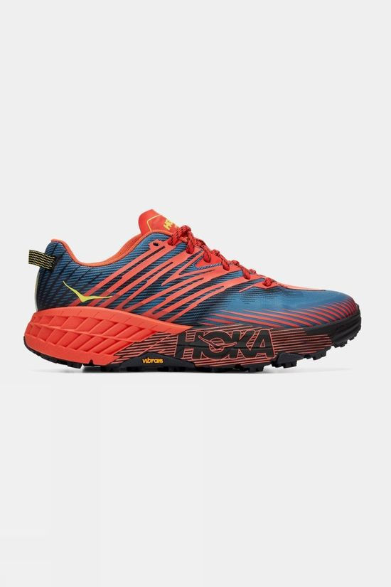 Hoka One One Men's Speedgoat 4 wide Fiesta/ Provincial Blue