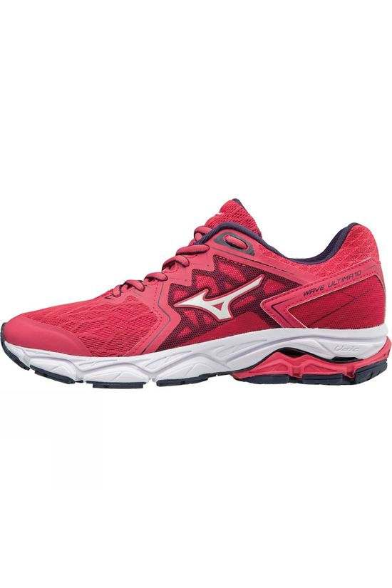 Mizuno Womens Wave Ultima 10 Teaberry / White / Evening Blue