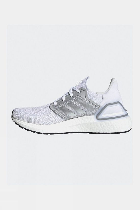 Adidas Women's Ultraboost 20 White/Silver met./Fresh Candy
