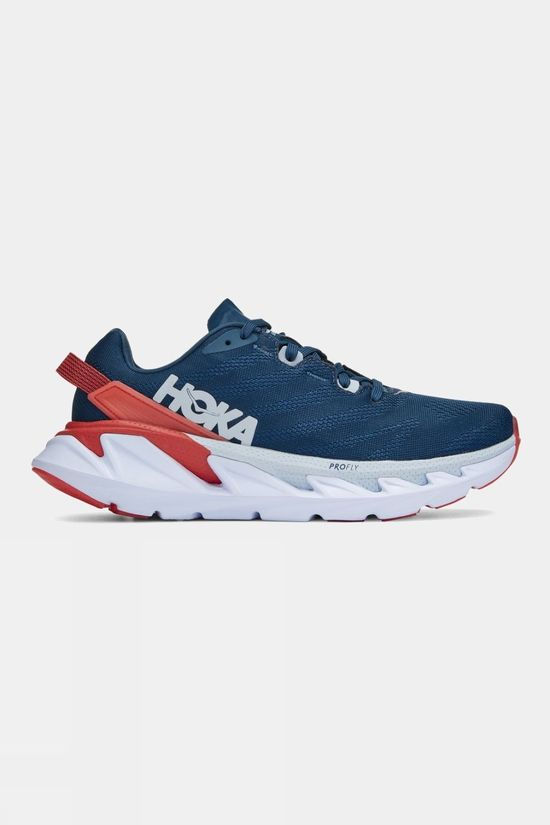 Hoka One One Womens Elevon 2 Moroccan Blue/ Hot Coral