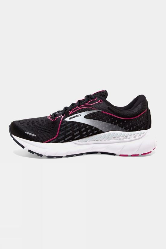 Brooks Women's Adrenaline GTS 21 Narrow Black/Raspberry Sorbet/Ebony