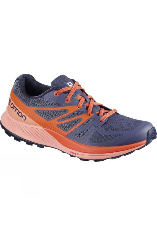 Salomon Womens Sense Escape Shoe Crown Blue/Coral Almond/Nasturtium