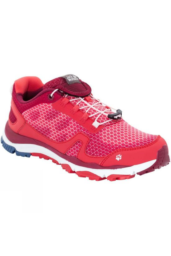 Jack Wolfskin Womens Storm Breeze Low Shoe Tulip Red