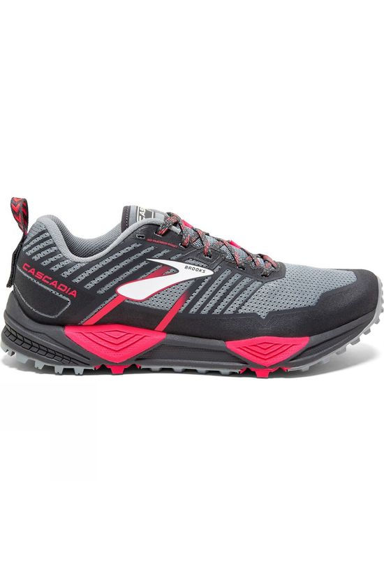 Brooks Womens Cascadia 13 Grey/Grey/Pink
