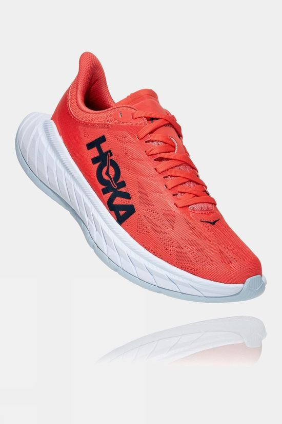 Hoka One One Womens Carbon X 2 Hot Coral/Black Iris