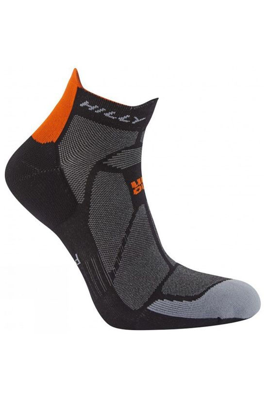 Hilly Marathon Fresh Socklet Black/Orange