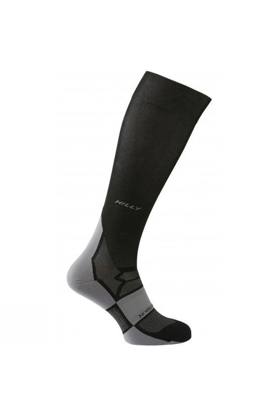 Hilly  Unisex Pulse Compression Sock Black/Grey