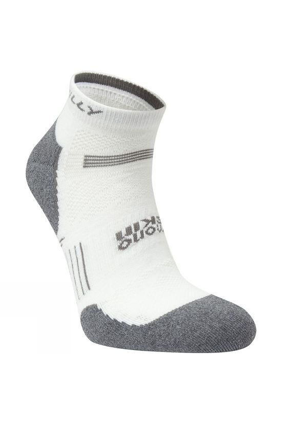 Hilly Supreme Quarter Socks White/Grey Marl
