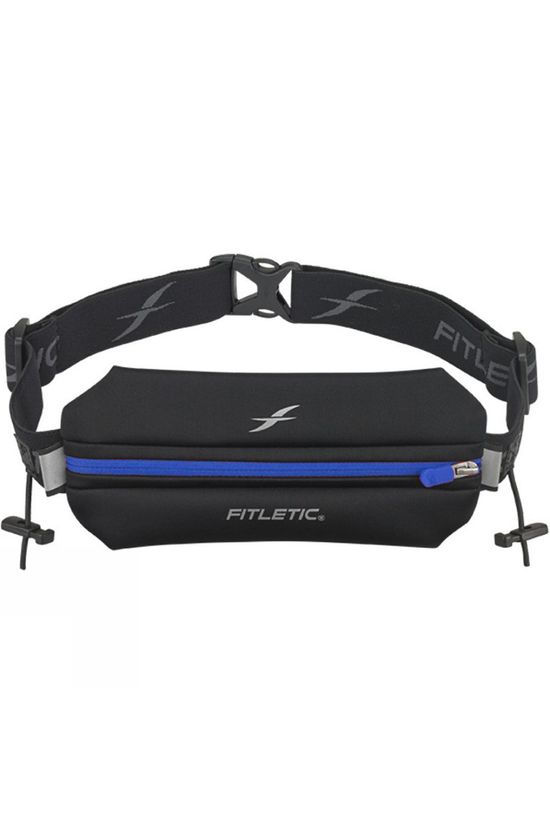 Fitletic Single Neoprene Race Belt With Race Number Holder Black/Blue