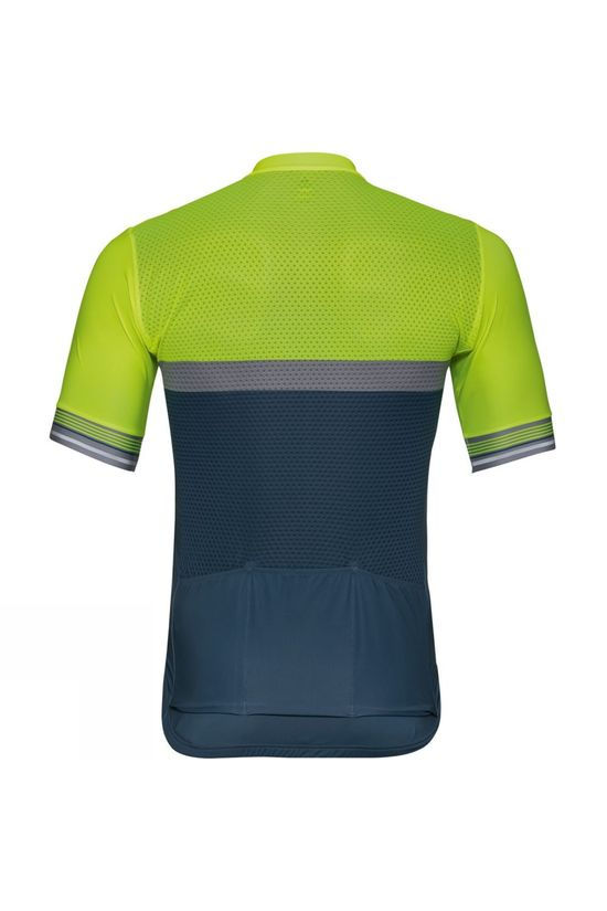Odlo Mens Zeroweight Ceramicool Short-Sleeve Cycling Jersey Safety Yellow (Neon) - Bering Sea