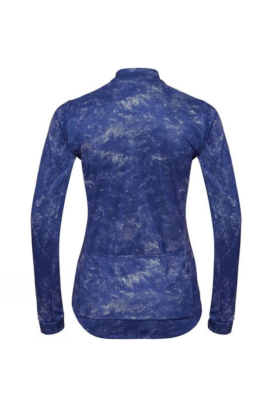 Odlo Womens Zeroweight Ceramiwarm Cycling Midlayer Clematis Blue - AOP FW19