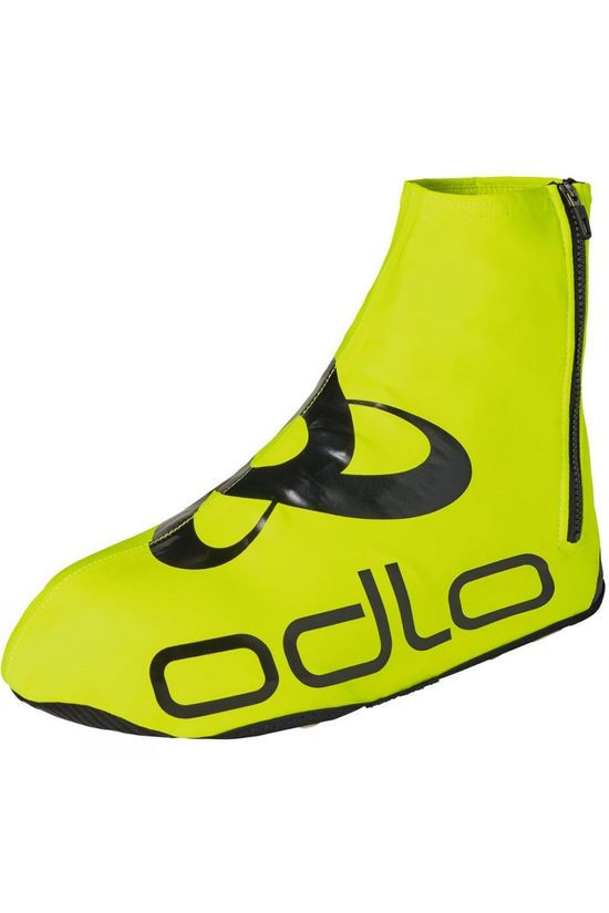 Odlo Zeroweight Cycling Shoecover Safety Yellow - Black
