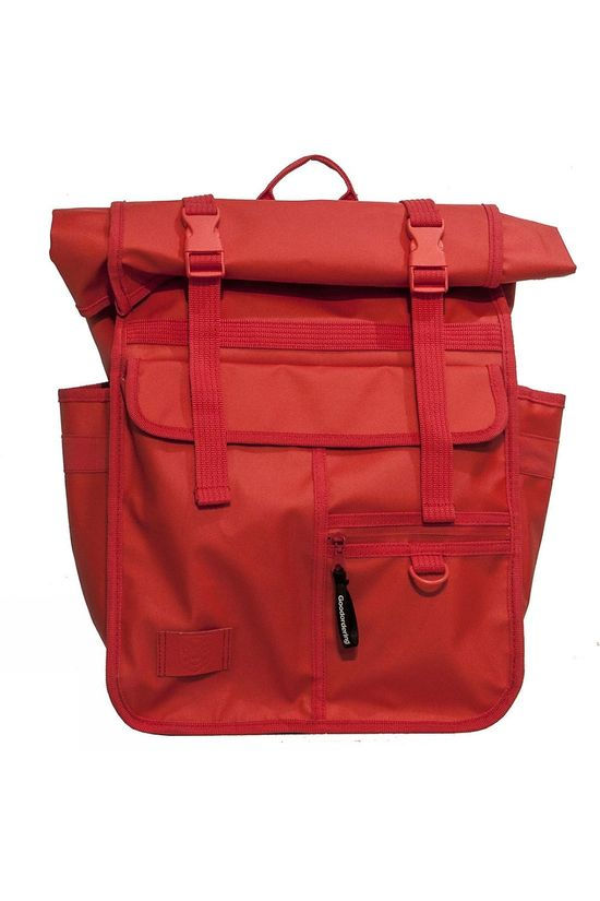 Goodordering Rolltop Backpack and Pannier - Brompton Friendly RED