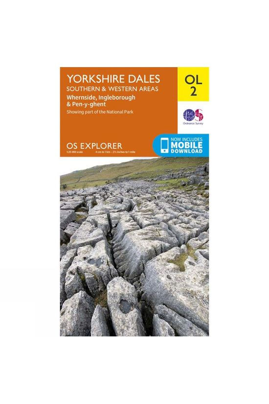 Ordnance Survey Explorer Map OL2 Yorkshire Dales - Southern and Western Area V16