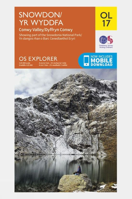 Ordnance Survey Explorer Map OL17 Snowdon and Conwy Valley V19