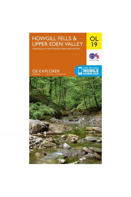 Ordnance Survey Explorer Map OL19 Howgill Fells and Upper Eden Valley V17