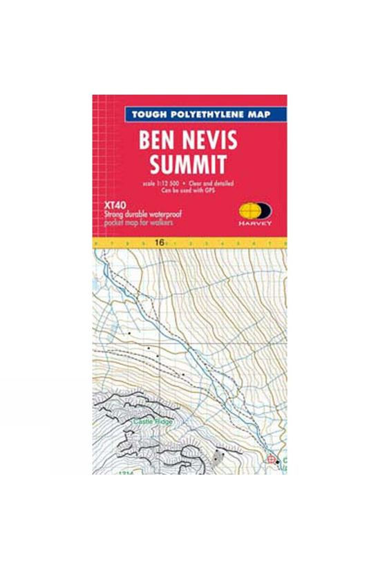 Harvey Maps Ben Nevis Summit Map 1:12.5K No Colour