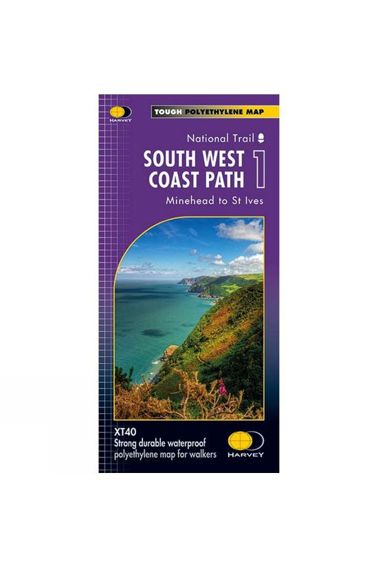 Harvey Maps South West Coast Path 1 Map 1:40K V15