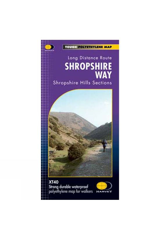 Harvey Maps Shropshire Way National Trail Map 1:40K No Colour