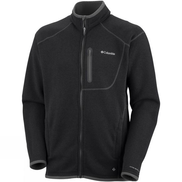 Columbia Mens Altitude Aspect Full Zip Black Heather