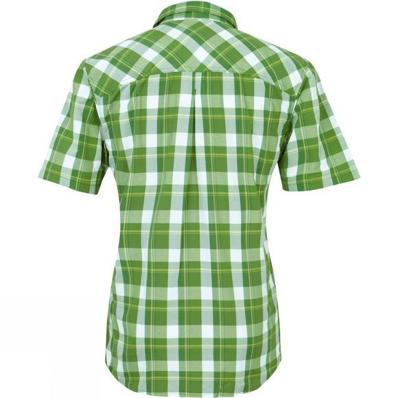The North Face Mens Rincon Short Sleeve Woven Shirt Adder Green Plaid