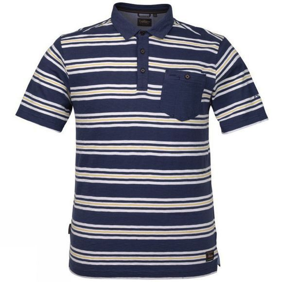 Craghoppers Mens Bosadi Short Sleeve Polo Denim Blue Combo