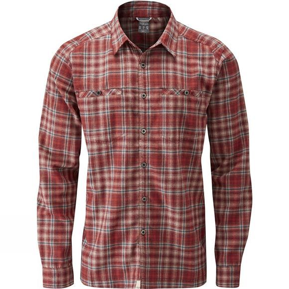 Rab Mens Dawson Long Sleeve Shirt Root Beer