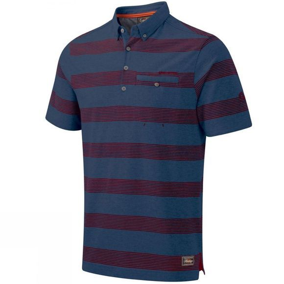 Craghoppers Mens Jackson Short Sleeve Polo Windsor Blue Marl