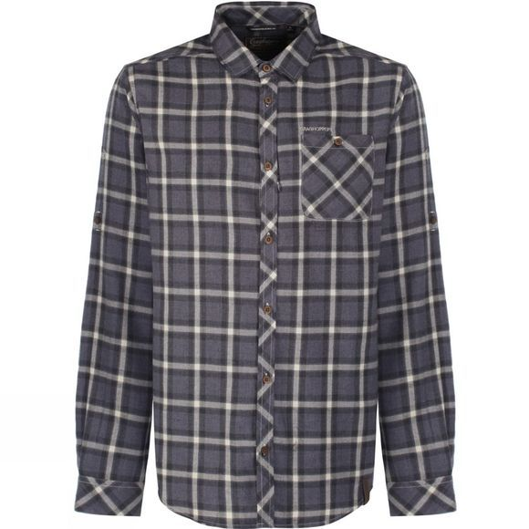 Craghoppers Mens Howard Check Shirt Windsor Blue Marl